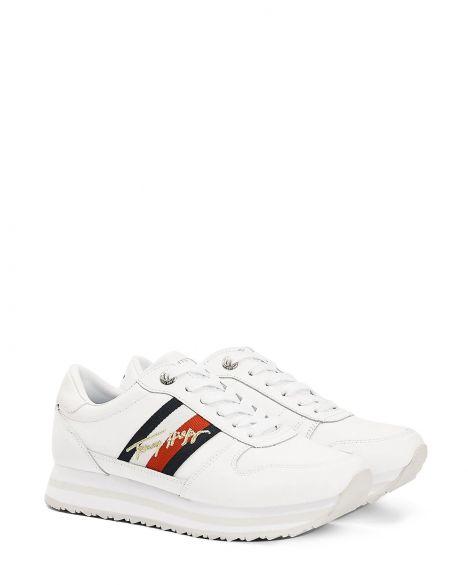 Tommy Hilfiger Th Signature Runner Kadın Sneaker FW0FW05218 White