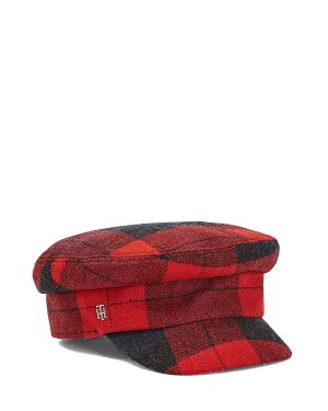 Tommy Hilfiger Th Wool Baker Boy Check Kadın Şapka AW0AW08874