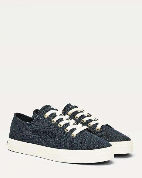 Tommy Hilfiger Tommy Basic Kadın Sneakers FW0FW05123 Navy Blue