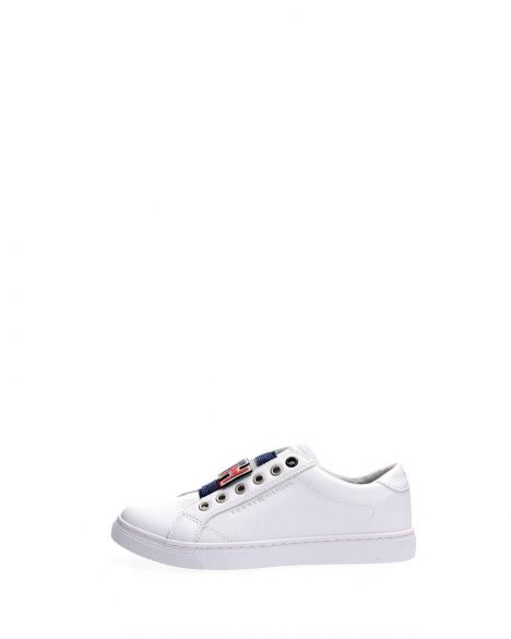 Tommy Hilfiger Tommy Customize Slip On Kadın Sneakers FW0FW04598 White