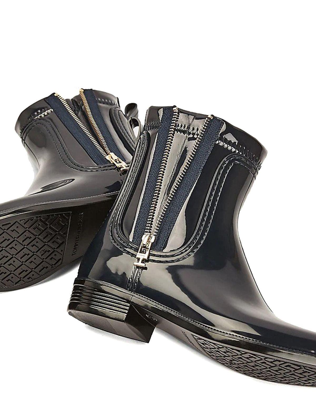 Tommy Hilfiger Tommy Glossy Rainboot Kadın Yağmur Botu FW0FW05180 Desert Sky