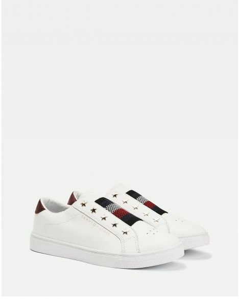 Tommy Hilfiger Tommy Hilfige Elastic Slip On Sneakers FW0FW05225 White