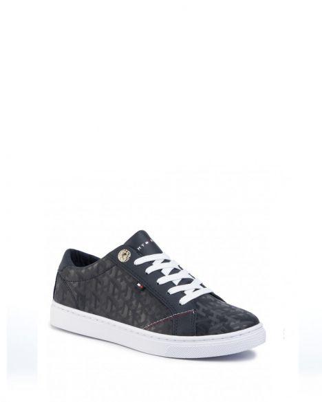 Tommy Hilfiger Tommy Jacquard Leather Kadın Sneakers FW0FW04602 Navy Blue