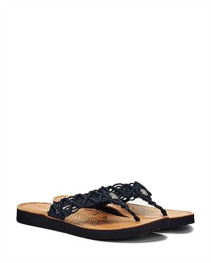 Tropical Leather Bea Kadın Terlik  Navy Blue