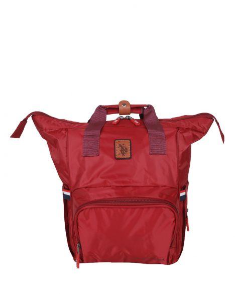 Us Polo Assn . Çift Kulplu Bebek Bakım Çantası PLABÇ20219 Kırmızı