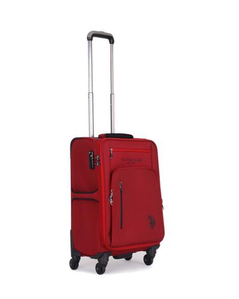 Us Polo Assn . Çok Gözlü Kabin Boy Valiz PLVLZ9016C Bordo