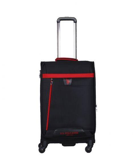 Us Polo Assn . İki Ön Bölmeli Orta Boy Valiz PLVLZ9005B Siyah