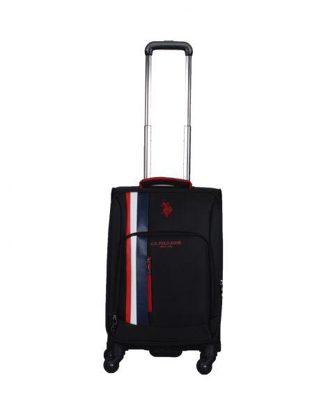 Us Polo Assn . İkonik Şerit Detaylı Kabin Boy Valiz PLVLZ20226C Siyah