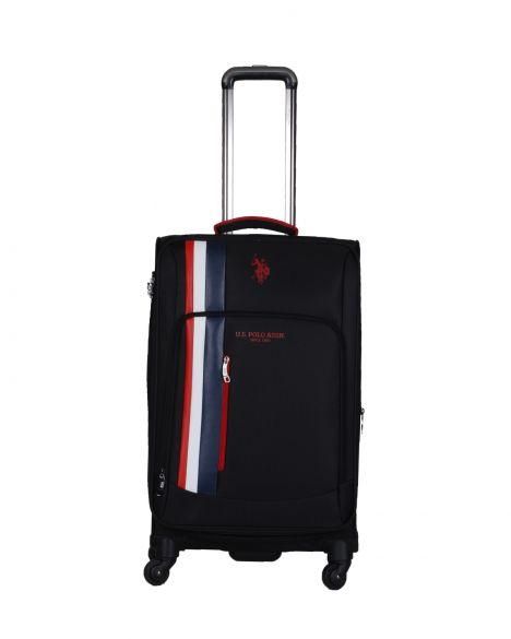 Us Polo Assn . İkonik Şerit Detaylı Orta Boy Valiz PLVLZ20226B Siyah