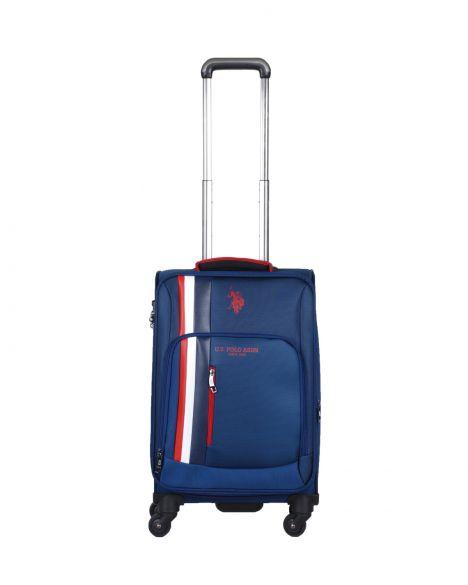 Us Polo Assn . Şerit Detaylı Kabin Boy Valiz PLVLZ20228C Lacivert