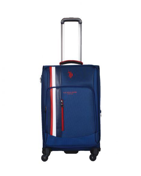 Us Polo Assn . Şerit Detaylı Orta Boy Valiz PLVLZ20228B Lacivert