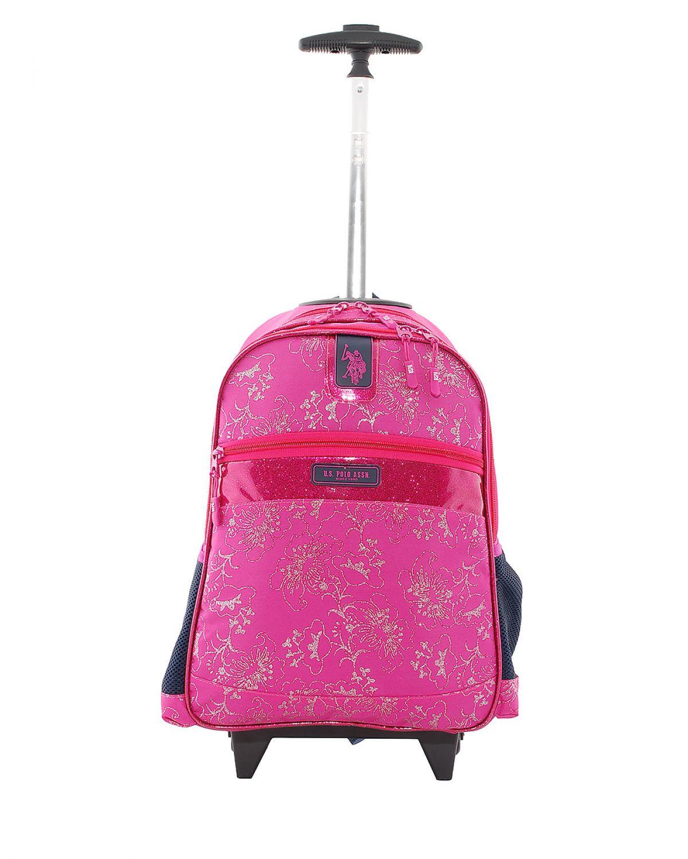 Us Polo Assn Çekçekli Light Floral Okul Çantası PLÇAN7253 Lacivert