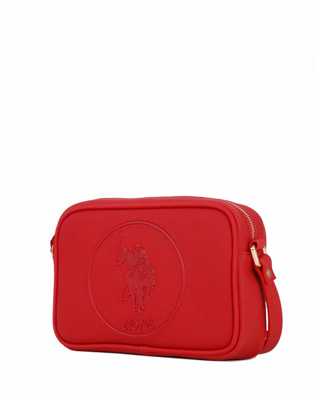 Us Polo Assn Kabartma Logolu Çapraz Kadın Çantası US19405 Açık Gri