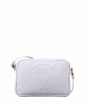 Us Polo Assn Kabartma Logolu Çapraz Kadın Çantası US19405 Beyaz