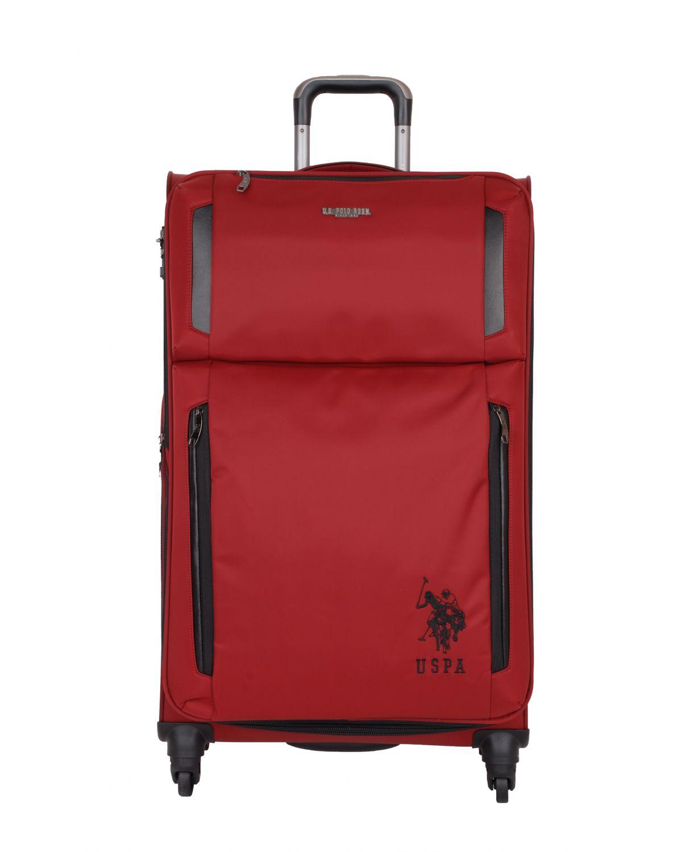 Us Polo Assn Siyah Armalı Büyük Boy Valiz PLVLZ6005A Renkli