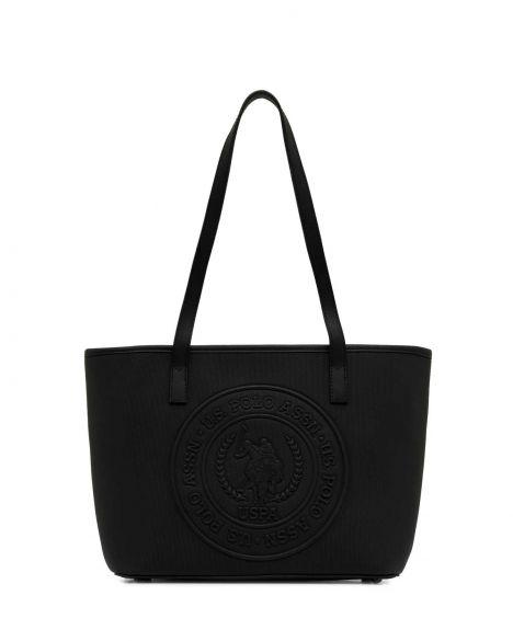 Us Polo Assn Kabartma Logo Baskılı Kadın Omuz Çantası US21817 Siyah - Siyah