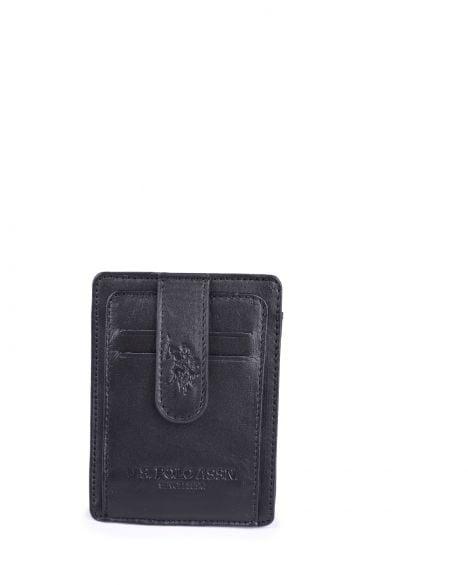 Us Polo Assn Şeffaf Bölmeli Erkek Kartlık PLCUZ7604 Siyah