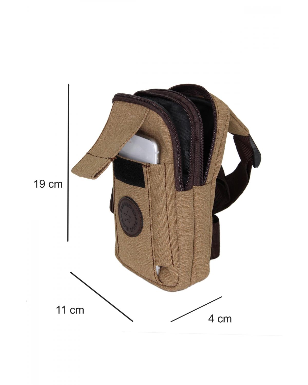 Cambridge Polo Club Kanvas Erkek Body Bag Plevr50049 Taba