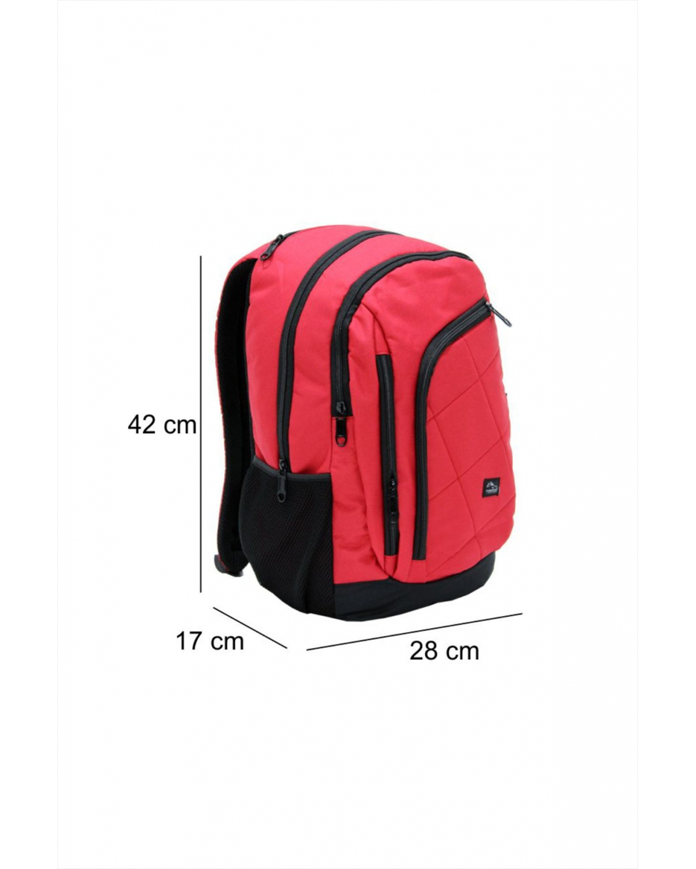 Cambridsge Polo Club Karo Dikişli Sırt Çantası PLCAN1689 Kırmızı
