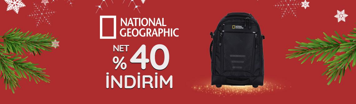 National Geographic Çantalarda Net %40 İndirim