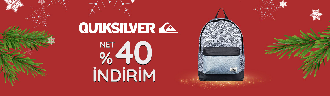 Quicksilver Çantalarda Net %40 İndirim